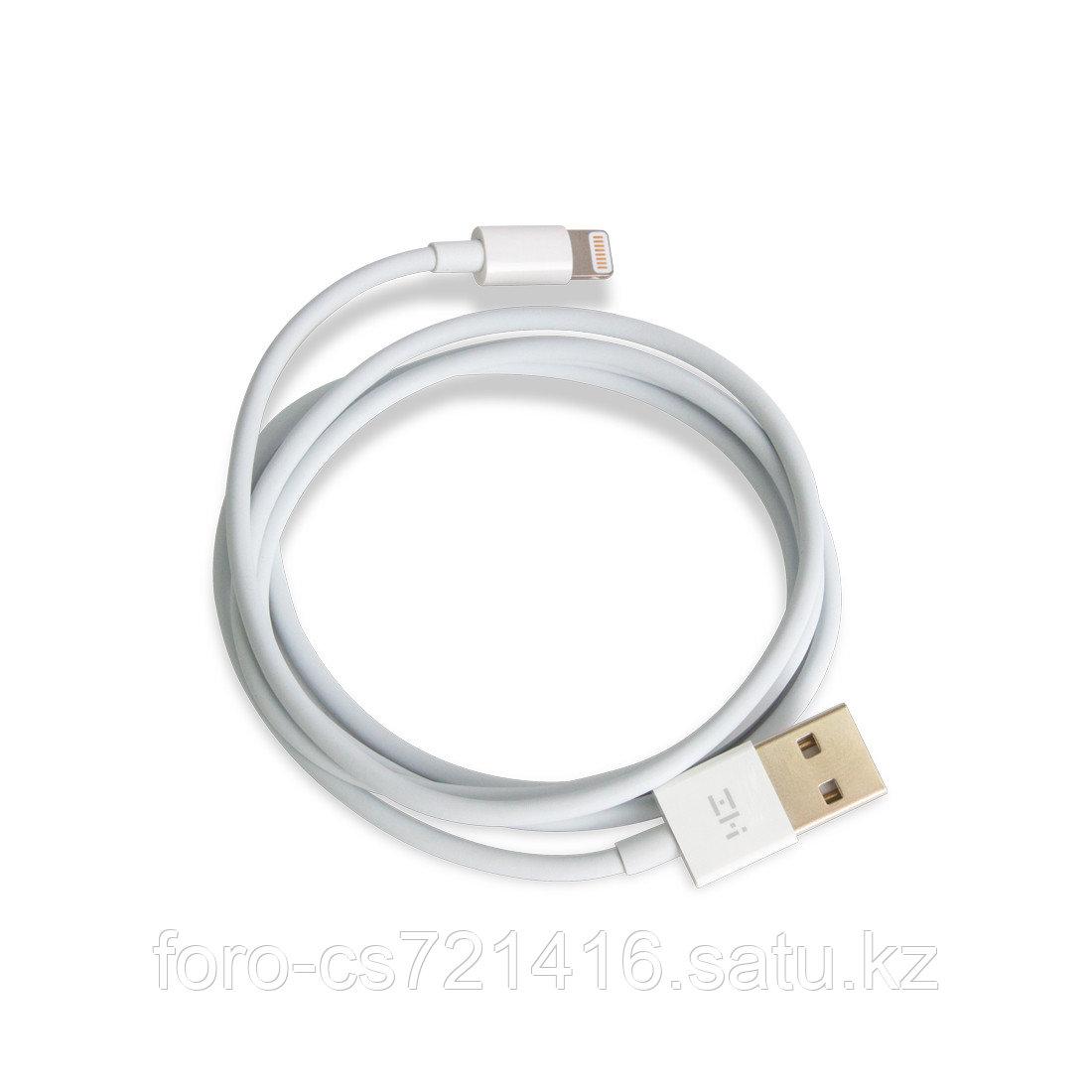 Интерфейсный кабель USB-Lightning Xiaomi ZMI AL813 100 см Белый - фото 2