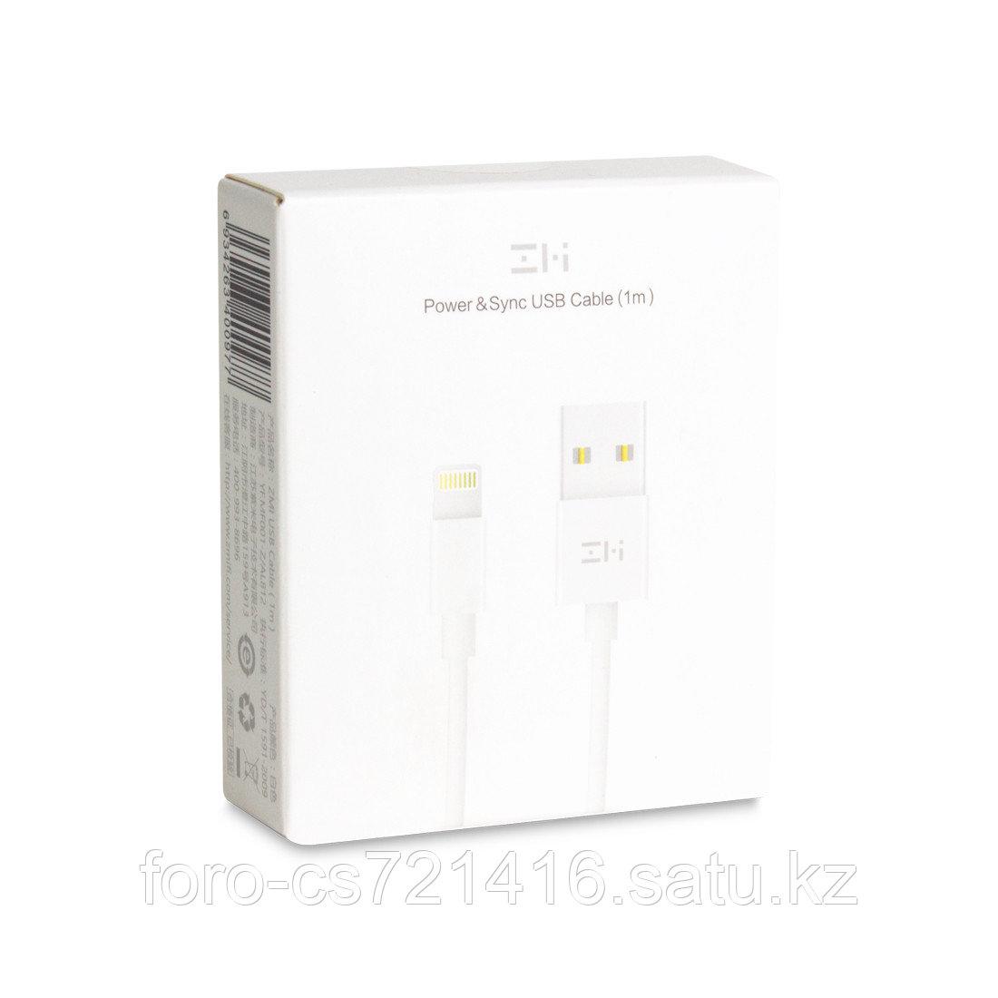 Интерфейсный кабель USB-Lightning Xiaomi ZMI AL813 100 см Белый - фото 3