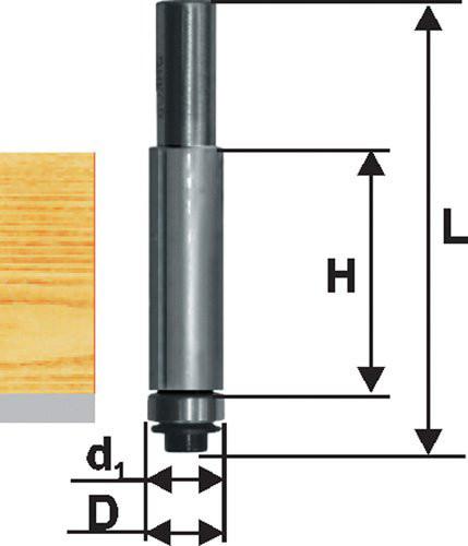 Фреза кромочная прям ф12,7х38мм хв 12мм ДСП