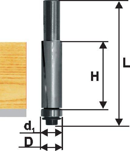 Фреза кромочная прям ф19х25,4мм хв 8мм ДСП