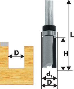 Фреза кромочная прям ф12,7х26мм хв 8мм ДСП