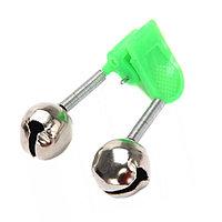 Звуковой сигнализатор поклёвки на удочку с креплением-прищепкой колокольчики 4,5х3,5 см