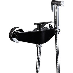 Смеситель с гигиеническим душем Frap 2057 черный
