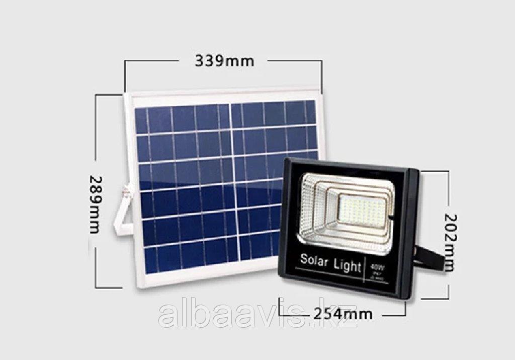 Прожектор на солнечной батарее 40 ватт LED для наружного и внутреннего освещения