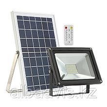 Прожектор на солнечной батарее 50 ватт LED для наружного и внутреннего освещения