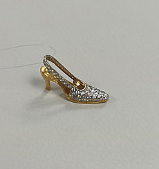 Подвеска «туфелька» с бриллиантами