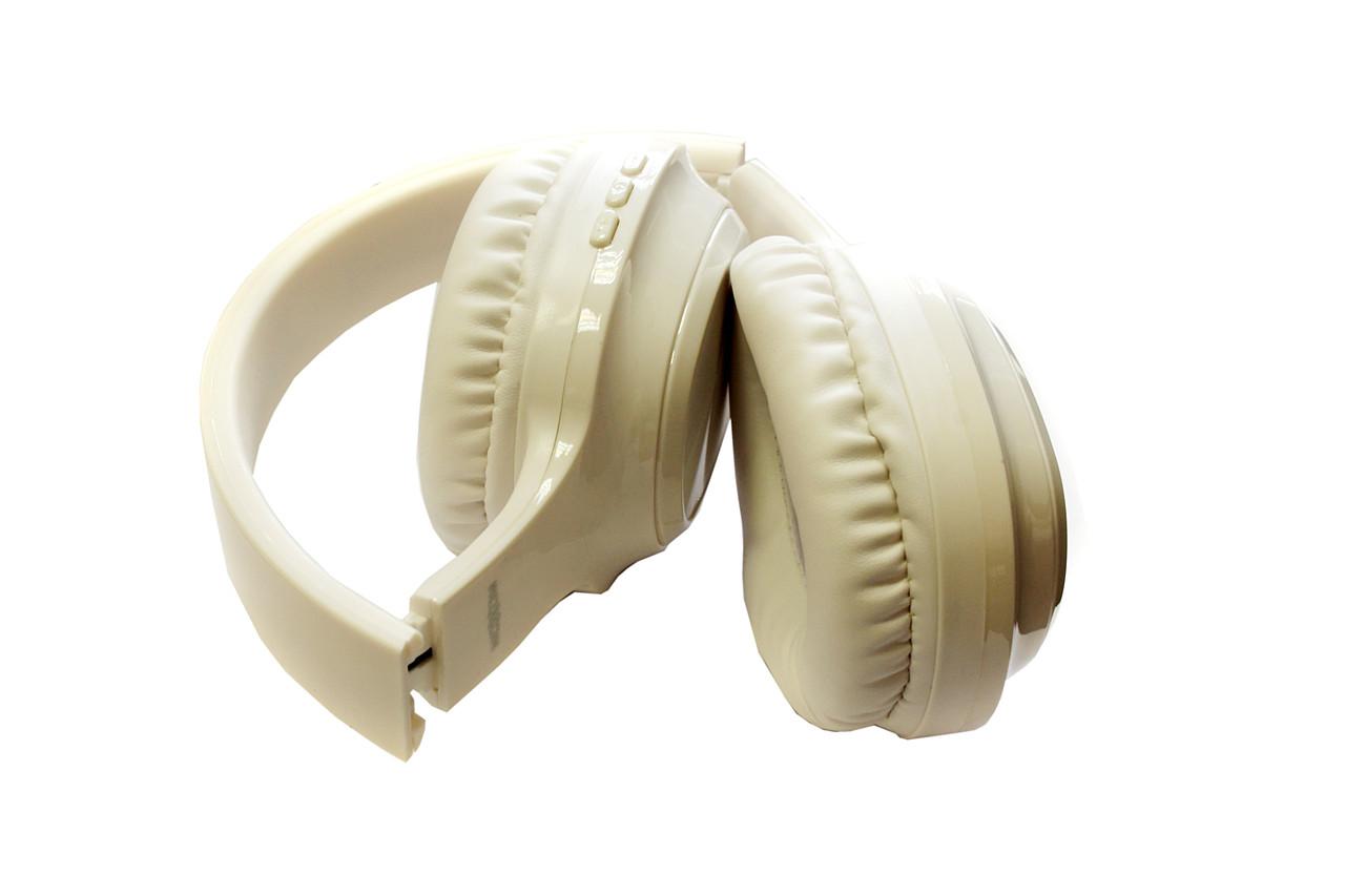 Bluetooth гарнитура (накладные наушники) Moxom Halo MX-WL26 White, Wireless Headphone