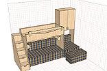 Кровать 2х ярусная с дополнением на 4 спальных места, фото 4