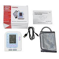 Тонометр медицинский электронный на плечо автомат CONTEC08C (для взрослых)