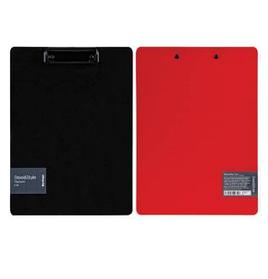 """Планшет с зажимом Berlingo """"Steel&Style"""" A4, пластик (полифом), красный"""