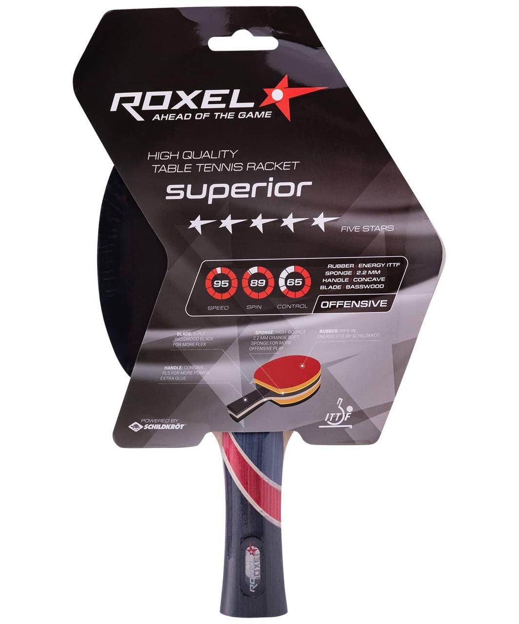 Ракетка для настольного тенниса 5* Superior, коническая Roxel