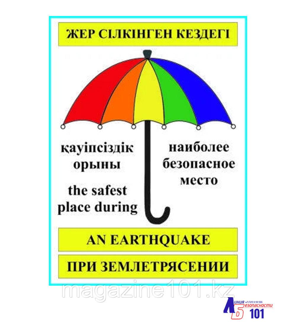 "Знак ""Наиболее безопасное место при землетрясении"" B-26"