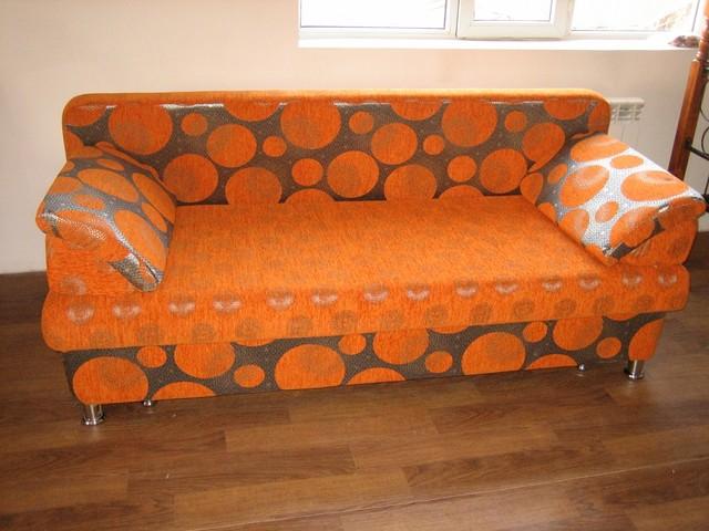 Тахта раскладная оранжевая