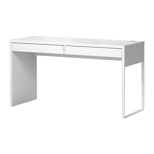 """MICKE Микке Письменный стол, белый142x50 см """