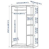 """Гардероб 3-дверный RAKKESTAD Раккестад, черно-коричневый 117x176 см """", фото 4"""