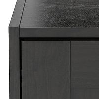 """Гардероб 3-дверный RAKKESTAD Раккестад, черно-коричневый 117x176 см """", фото 3"""