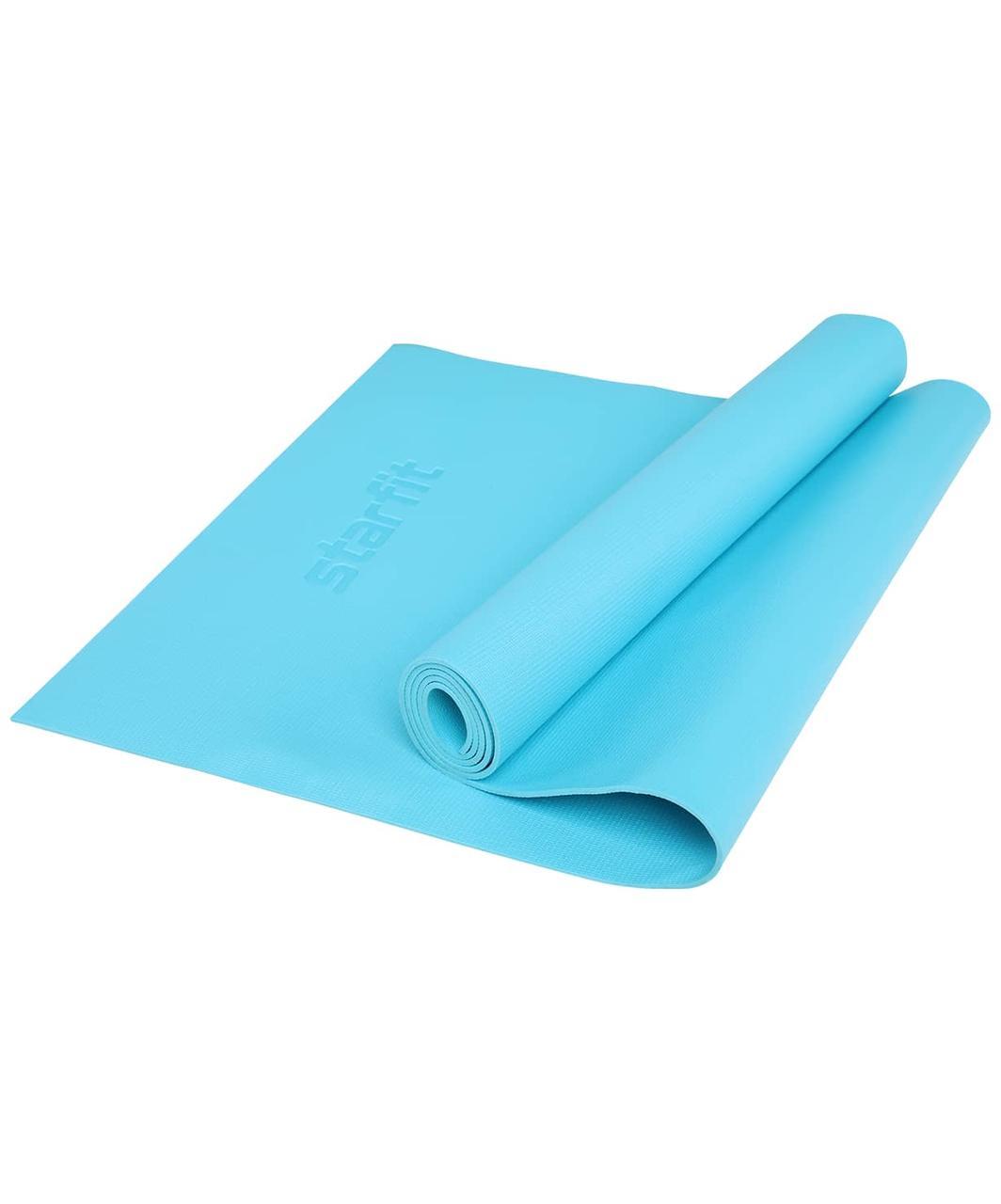 Коврик для йоги FM-103, PVC HD, 173 x 61 x 0,4 см, голубой Starfit