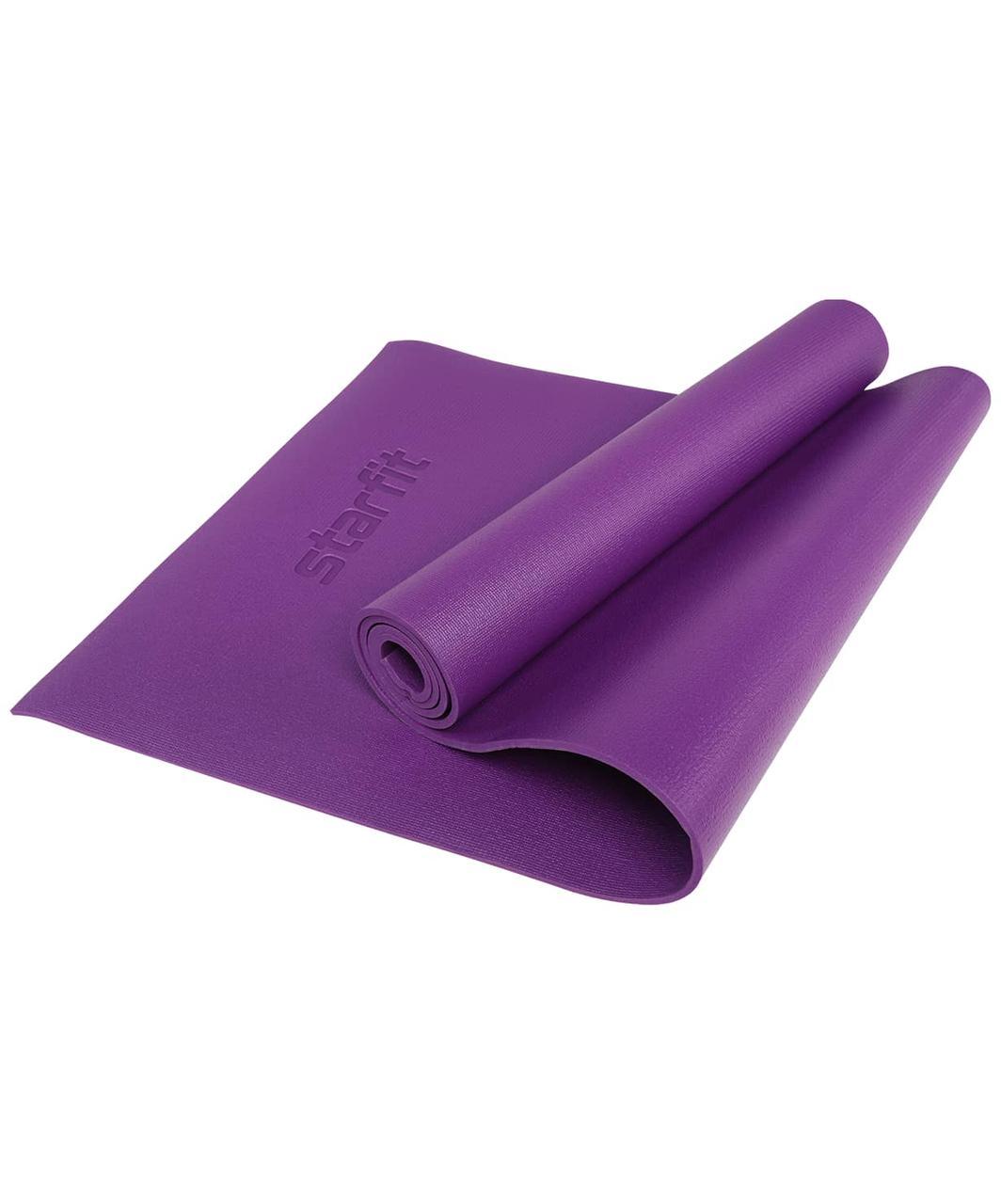 Коврик для йоги FM-103, PVC HD, 173 x 61 x 0,6 см, фиолетовый Starfit