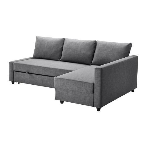 Угловой диван-кровать 3х местный FRIHETEN темно-серый