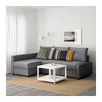 Угловой диван-кровать 3х местный FRIHETEN темно-серый, фото 2