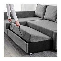 Угловой диван-кровать 3х местный FRIHETEN темно-серый, фото 5