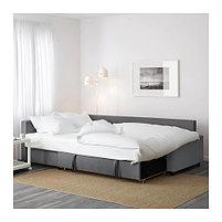 Угловой диван-кровать 3х местный FRIHETEN темно-серый, фото 6