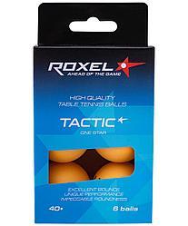 Мяч для настольного тенниса 1* Tactic, оранжевый, 6 шт. Roxel