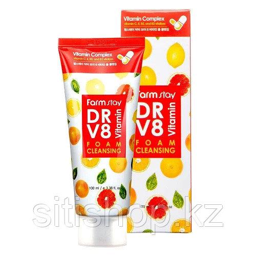 Farm Stay DR.V8 Vitamin Foam Cleansing - Пенка для умывания с комплексом витаминов