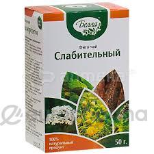 Слабительный фито-чай 50г Белла