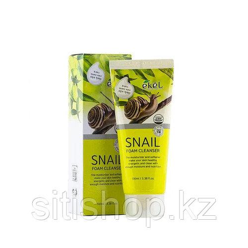 Ekel Snail Foam Cleanser 100 мл - Пенка для умывания с муцином улитки