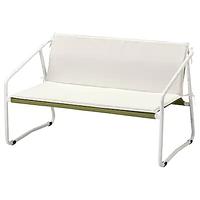 2-местный диван ИНГМАРСЭ, для дома/сада, белый зеленый/бежевый 118x69x69 см ИКЕА, IKEA
