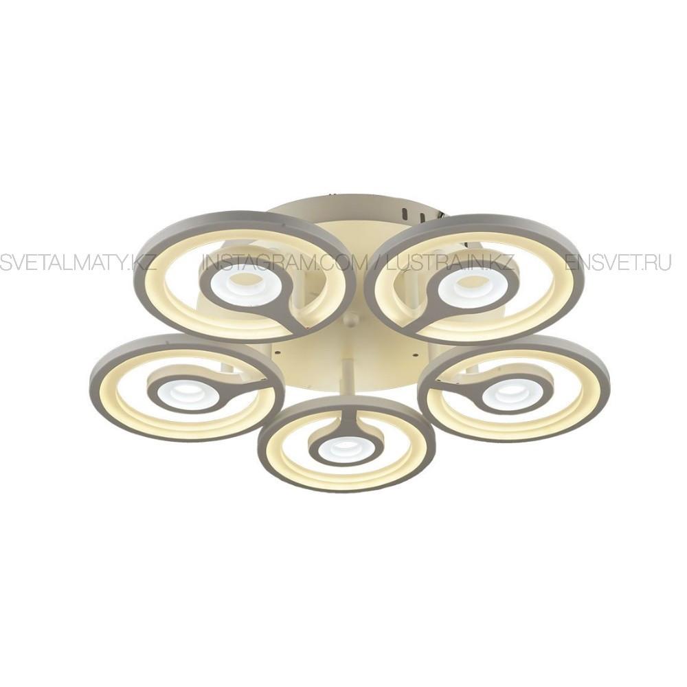 Современная LED люстра с пультом 3 режима на 5 ламп