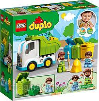 LEGO Duplo Конструктор Мусоровоз и контейнеры для раздельного сбора мусора
