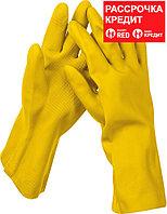 STAYER S, с х/б напылением, рифлёные, перчатки латексные хозяйственно-бытовые OPTIMA 1120-S_z01 Master