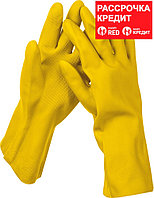 STAYER XL, с х/б напылением, рифлёные, перчатки латексные хозяйственно-бытовые OPTIMA 1120-XL_z01 Master