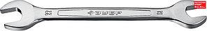 ЗУБР 19х22 мм, Cr-V сталь, хромированный, гаечный ключ рожковый 27010-19-22_z01 Профессионал