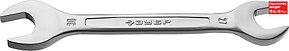 ЗУБР 27х30 мм, Cr-V сталь, хромированный, гаечный ключ рожковый 27010-27-30_z01 Профессионал