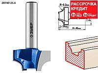 ЗУБР 25.4 x 14 мм, радиус 6.3 мм, фреза пазовая фасонная №1 28740-25.4 Профессионал