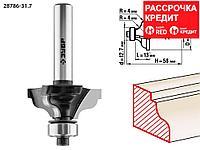 ЗУБР 31.7 x 13 мм, радиус 4 мм, фреза кромочная калевочная №3 28786-31.7 Профессионал