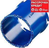 ЗУБР d 67 мм, L - 55 мм, карбид-вольфрамовое нанесение, кольцевая коронка 33350-67_z01 Профессионал