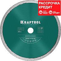KRAFTOOL Ø 230Х22.2 мм, алмазный, сплошной, по керамограниту, керамической плитке диск отрезной KERAMO