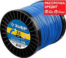 """ЗУБР диаметр 3.0 мм, длина 240 м, леска для триммера """"круг"""" 71015-3.0 Профессионал"""