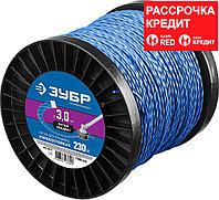 """ЗУБР диаметр 3.0 мм, длина 240 м, леска для триммера """"витой квадрат"""" 71035-3.0 Профессионал"""