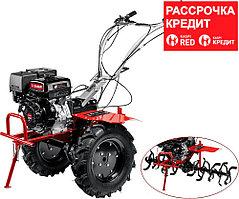 ЗУБР 389 см3, мотоблок бензиновый с ВОМ МТШ-700 Мастер