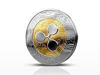 Сувенирная монета Ripple coin, толщина 3 мм