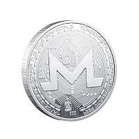 Сувенирная монета Monero coin, серебро, толщина 3 мм