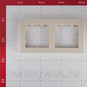 Atlas Design рамка 2-постовая бежевый, фото 2