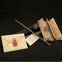 Набор Волшебная палочка Полумна Лавгуд + Письмо из Хогвартса + Карта Мародеров + Билет на платформу 9 и 3/4