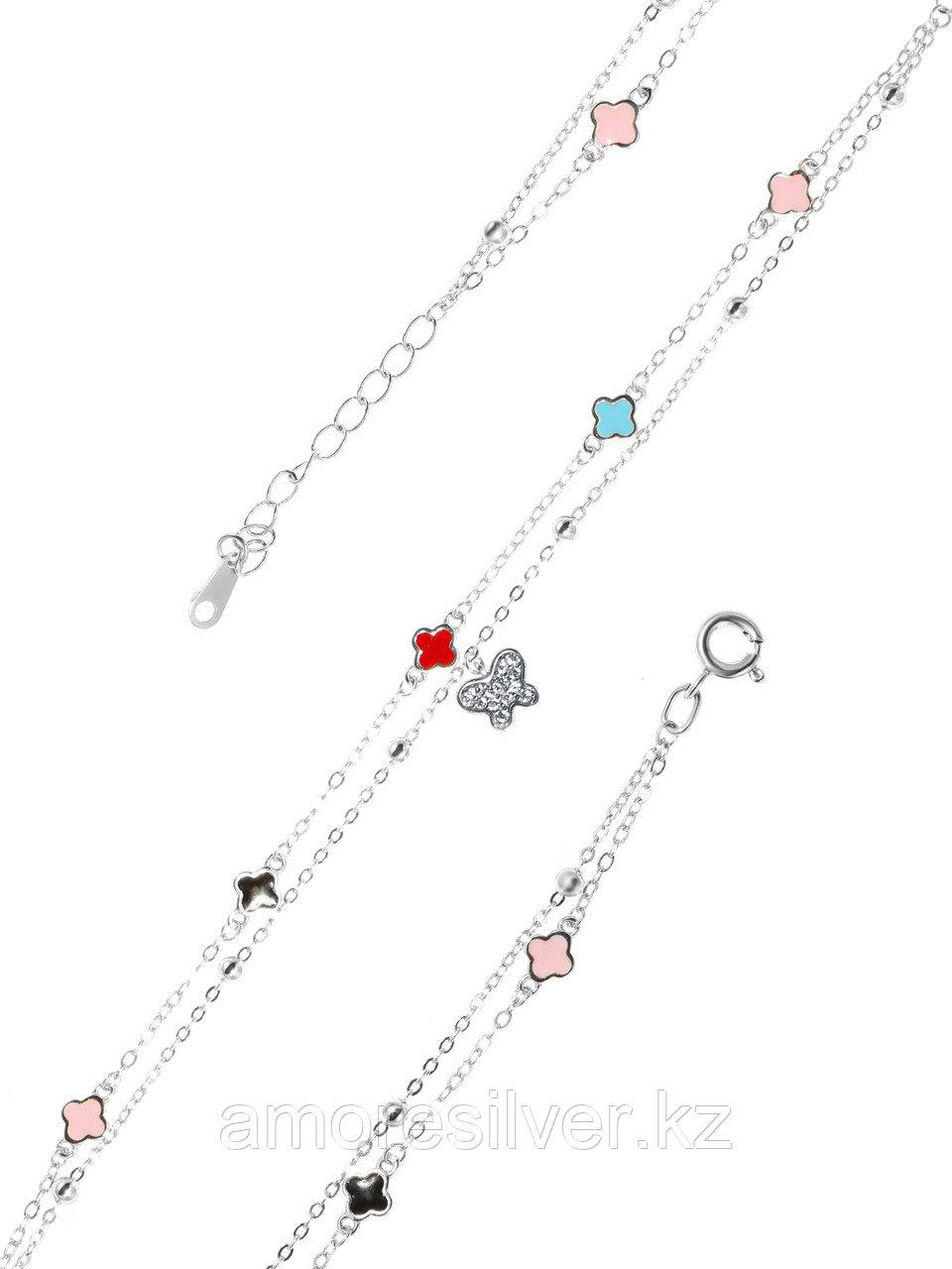 Браслет Адамант серебро с родием, фианит эмаль Ср925Р-8К3603016