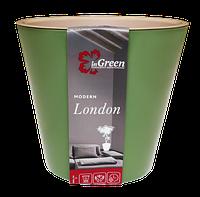Горшок для цветов London 16л (оливковый)